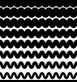 horizontal zigzag or wavy lines monochrome vector image vector image