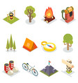 isometric travel rest symbols tourist accessories vector image vector image