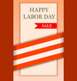 labor happy day sale concept background realistic vector image