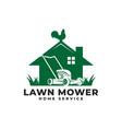lawn mower home garden service logo icon vector image vector image