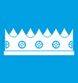 little crown icon white vector image vector image
