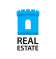 logo with castle tower for real estate company in vector image