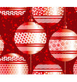 luxury red xmas bubbles seamless pattern vector image vector image