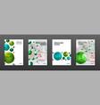 medical brochure cover templates set vector image