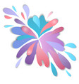 multi colored drops paint cut from paper 3d vector image vector image