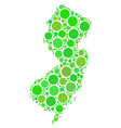 new jersey state map collage of circles vector image