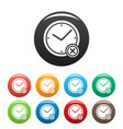 no time icons set simple vector image vector image