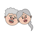 old couple face with hairstyle vector image vector image