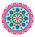 Polish traditional folk pattern in cirle vector image vector image