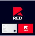 r monogram logo red origami logo geometric vector image vector image