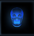 realistic x-ray skull medical image vector image