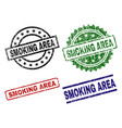 scratched textured smoking area stamp seals vector image vector image