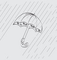 seamless background with an umbrella and autumn ra vector image