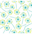 seamless colorful dandelion pattern vector image