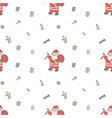 Seamless pattern of Santa Claus with gifts vector image vector image