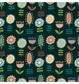 seamless pattern with lots of flowers vector image