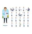 set of character medical doctor healthcare help vector image