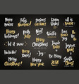 set of holiday greeting quotes and wishes hand vector image