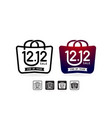shopping bag 1212 sale handbag 1212 online sale vector image vector image