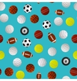 Sport Balls for Different Games Background Pattern vector image vector image