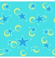 Stars and ring color seamless pattern vector image