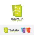 tea park logo vector image vector image
