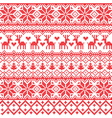 Traditional red nordic pattern vector image vector image