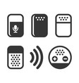 voice device smart assistant icons set vector image vector image