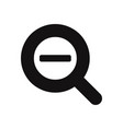 zoom out magnifier glass icon vector image vector image