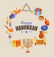 card for happy hanukkah vector image