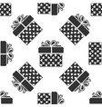 gift box and heart icon seamless pattern vector image
