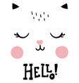 hello cat vector image