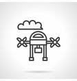 Aerial survey black line design icon vector image