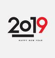 2019 happy new year vector image vector image