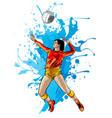 abstract female volleyball player power vector image