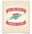 All you need is love quote vintage american design vector image vector image