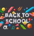 back to school template social media education vector image vector image