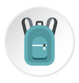 backpack icon circle vector image vector image