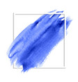 blue abstract watercolor stain vector image vector image