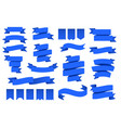 blue ribbon banners and flags flag shape banner vector image vector image