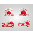 bowling realistic theme set eps 10 vector image vector image