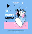 bright template poster for a music concert vector image vector image