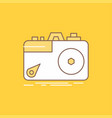 camera photography capture photo aperture flat vector image