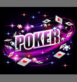 casino gambling poker background design poker vector image vector image