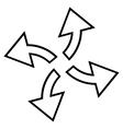 Centrifugal Arrows Stroke Icon vector image
