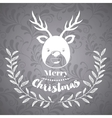Christmas poster with isolated icon design vector image vector image