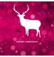 Christmas reindeer card template vector image