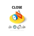 Close icon in different style vector image vector image