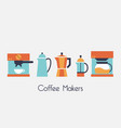 coffee makers vector image