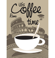 Coffee Rome vector image vector image